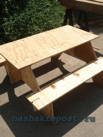 стол для пикника разборный