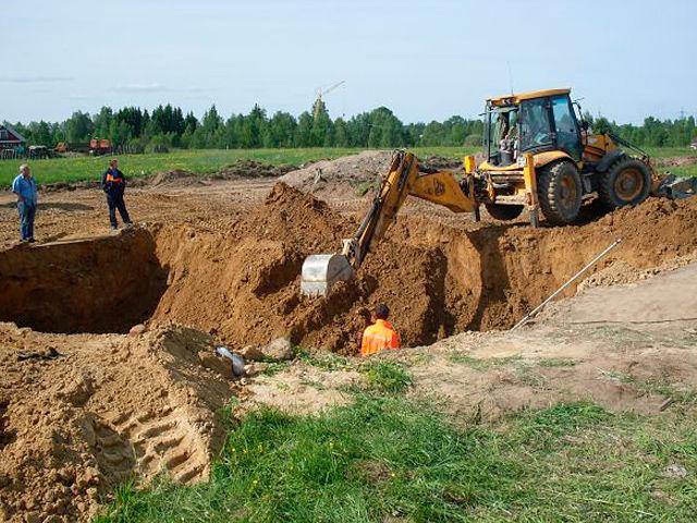 Разработка котлованов под строительные объекты