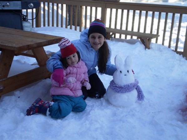 Поделки из снега в детском саду