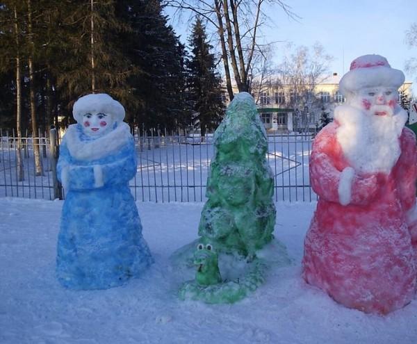 Как сделать фигуры из снега своими руками для детского сада