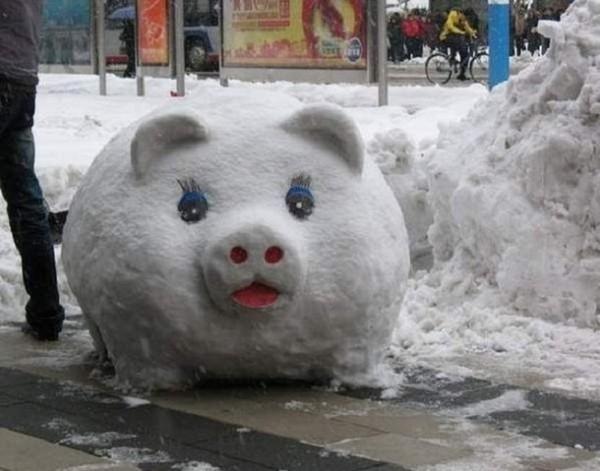 Фигуры из снега своими руками