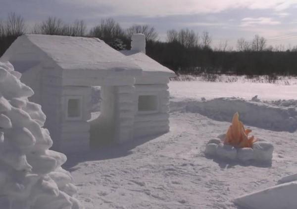 Ледяной дом из снега
