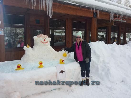 Снежные скульптуры как сделать