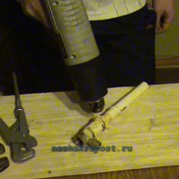 Строительный фен для сварки труб